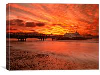 Under a fire sky., Canvas Print