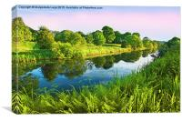Forth and Clyde Canal, Scotland, Canvas Print