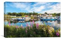 Forth and Clyde canal, Kilsyth, Scotland, Canvas Print