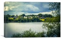 Linlithgow Loch in Linlithgow, Scotland, Canvas Print