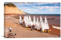 Sidmouth Sailing , Canvas Print