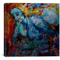 Redhaired Watercolor, Canvas Print
