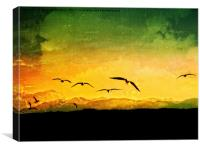 Horizon Yellow, Canvas Print
