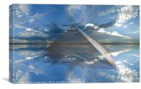 Faceted Sky, Canvas Print