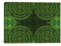 Mused Deformation Green, Canvas Print