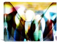 Community Path Abstract , Canvas Print