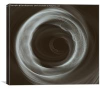 Clear Helix Bw, Canvas Print