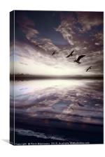 Heaven And Water Bluish, Canvas Print