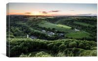 Millers Dale Sunset, Canvas Print