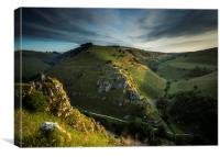 Wolfescote Dale early morning, Canvas Print