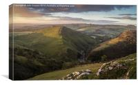 Thorpe Cloud catching the morning light, Canvas Print