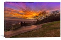 Sunset over Box Hill , Canvas Print