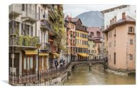 A rainy day in Annecy Le Vieux, Canvas Print