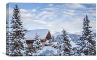 Chalet with a view, Canvas Print