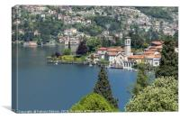 A beautiful Landscape view of Lake Como from Torno, Canvas Print