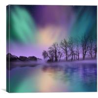 """""""dawn of the north"""" - The Northern Lights , Canvas Print"""