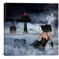 Gothica - Gothic Digital Oil Painting, Canvas Print