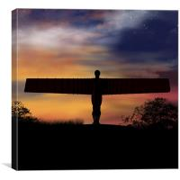 Angel Of The North Digital Painting, Canvas Print