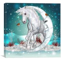 The Winter Moon Fantasy Art, Canvas Print