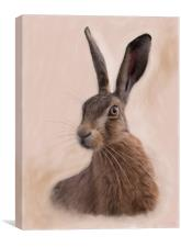 Hare - Eostre - The Hare Goddess, Canvas Print