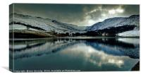 Dovestone reservoir, Canvas Print