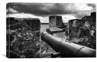 Carrickfergus Castle Walls and Canons, Canvas Print