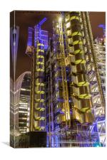 One Lime street London the Lloyds building, Canvas Print