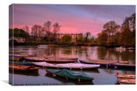 red sky over Richmond, Canvas Print