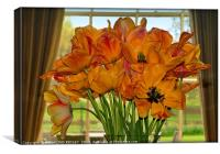 """""""Tulips in the window"""", Canvas Print"""
