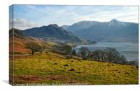 """Late afternoon across Crummock Water"", Canvas Print"