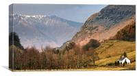"""Evening sunshine on Blencathra"", Canvas Print"