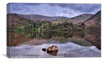 """Reflections across Ullswater"", Canvas Print"