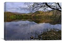 """Reflections across Ullswater 2"", Canvas Print"