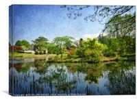 """""""Blue sky reflections at Thorp Perrow"""", Canvas Print"""