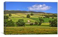 """Sunny day in the Yorkshire Dales"", Canvas Print"