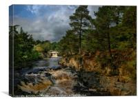 """Dramatic light at Low Force waterfalls"", Canvas Print"