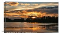 """Breezy sunset across the lake"", Canvas Print"