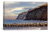 """Misty sunset Skinningrove"", Canvas Print"