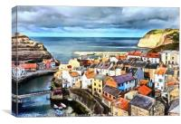 """Staithes"", Canvas Print"