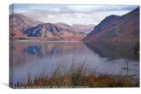 """Reflections at Ennerdale water"", Canvas Print"
