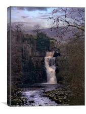 """Cool Winter evening at High Force"", Canvas Print"