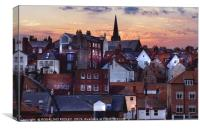 """Lighting up Whitby 2"", Canvas Print"