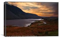 """Night approaches at Wastwater"", Canvas Print"