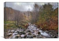 """Autumn mists in Thirlmere"", Canvas Print"