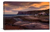 """Evening at Saltburn"", Canvas Print"