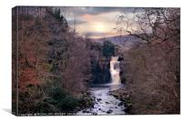 """Evening light at High Force"", Canvas Print"