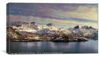"""Evening Light around the Lofoten islands"", Canvas Print"
