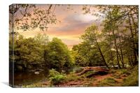 """Sunrise over the river Swale"", Canvas Print"