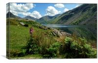 """Foxglove and reflections at Wastwater"", Canvas Print"