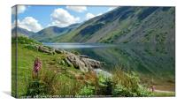 """Foxglove and reflections at Wastwater 2"", Canvas Print"